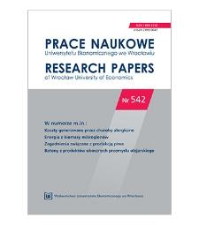 Spis treści [Prace Naukowe Uniwersytetu Ekonomicznego we Wrocławiu = Research Papers of Wrocław University of Economics; 2018; Nr 542]