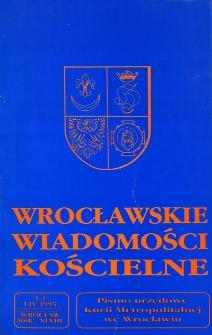 Wrocławskie Wiadomości Kościelne. R. 48 (1995), nr 1/2