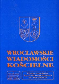 Wrocławskie Wiadomości Kościelne. R. 48 (1995), nr 3