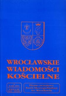 Wrocławskie Wiadomości Kościelne. R. 48 (1995), nr 4