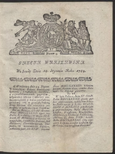 Gazeta Warszawska. R.1784 nr 4
