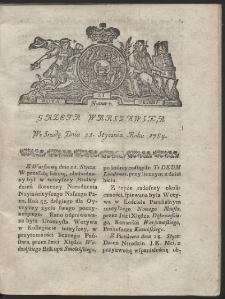 Gazeta Warszawska. R.1784 Nr 6