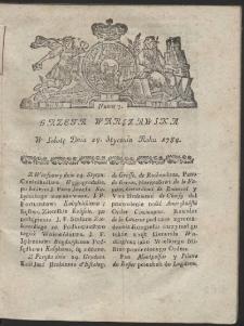Gazeta Warszawska. R.1784 nr 7