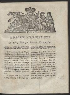 Gazeta Warszawska. R.1784 nr 9