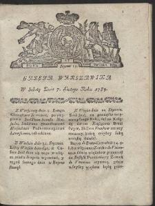 Gazeta Warszawska. R.1784 nr 11