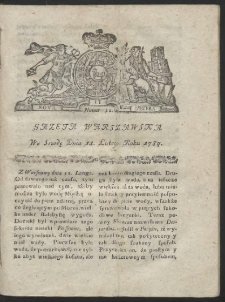 Gazeta Warszawska. R.1784 Nr 12