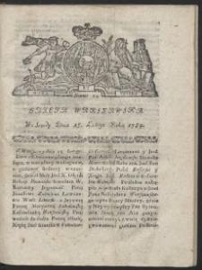 Gazeta Warszawska. R.1784 Nr 14