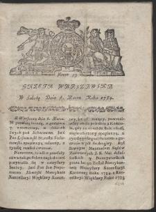 Gazeta Warszawska. R.1784 Nr 19