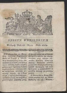 Gazeta Warszawska. R.1784 Nr 22