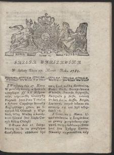 Gazeta Warszawska. R.1784 Nr 25