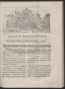 Gazeta Warszawska. R.1784 Nr 27