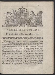 Gazeta Warszawska. R.1784 Nr 28