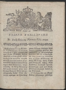 Gazeta Warszawska. R.1784 Nr 30