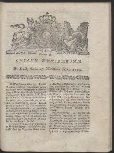 Gazeta Warszawska. R.1784 Nr 34