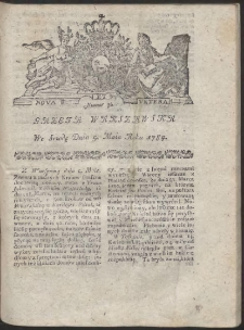 Gazeta Warszawska. R.1784 Nr 36