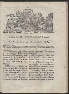 Gazeta Warszawska. R.1784 Nr 42