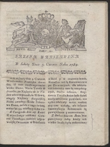 Gazeta Warszawska. R.1784 Nr 45