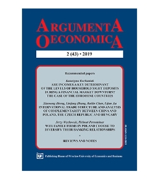 Spis treści [Argumenta Oeconomica, 2019, Nr 2 (43)]