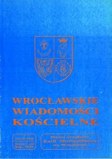 Wrocławskie Wiadomości Kościelne. R. 49 (1996), nr 3