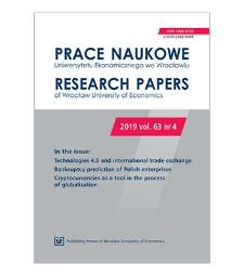 Spis treści [Prace Naukowe Uniwersytetu Ekonomicznego we Wrocławiu = Research Papers of Wrocław University of Economics; 2019; vol. 63, nr 4]