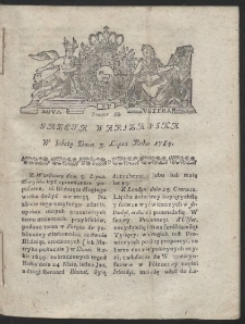 Gazeta Warszawska. R.1784 Nr 53