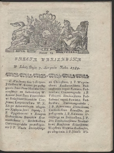 Gazeta Warszawska. R.1784 Nr 63