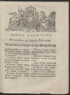 Gazeta Warszawska. R.1784 Nr 68