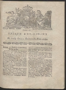 Gazeta Warszawska. R.1784 Nr 79
