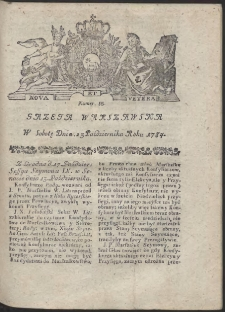 Gazeta Warszawska. R.1784 Nr 85