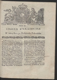Gazeta Warszawska. R.1784 Nr 87