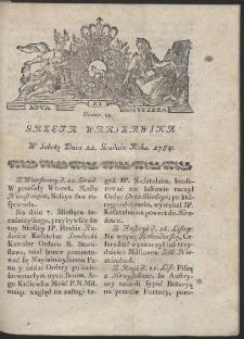 Gazeta Warszawska. R.1784 Nr 99