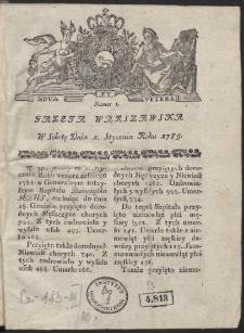 Gazeta Warszawska. R.1785 Nr 1