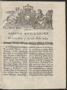 Gazeta Warszawska. R.1785 Nr 2