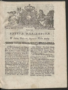 Gazeta Warszawska. R.1785 Nr 5