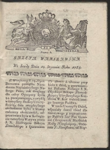Gazeta Warszawska. R.1785 Nr 6
