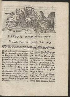 Gazeta Warszawska. R.1785 Nr 7