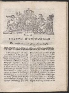 Gazeta Warszawska. R.1785 Nr 38