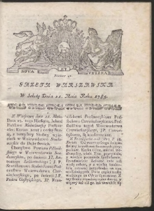 Gazeta Warszawska. R.1785 Nr 41