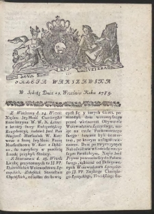 Gazeta Warszawska. R.1785 Nr 77