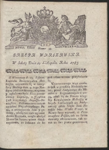 Gazeta Warszawska. R.1785 Nr 93
