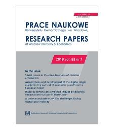 Spis treści [Prace Naukowe Uniwersytetu Ekonomicznego we Wrocławiu = Research Papers of Wrocław University of Economics; 2019; vol. 63, nr 7]