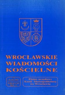 Wrocławskie Wiadomości Kościelne. R. 50 (1997), nr 3