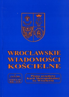 Wrocławskie Wiadomości Kościelne. R. 57 (2004), nr 3