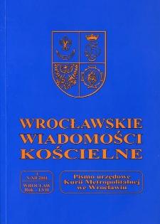 Wrocławskie Wiadomości Kościelne. R. 57 (2004), nr 4
