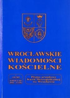 Wrocławskie Wiadomości Kościelne. R. 58 (2005), nr 1