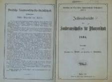 Jahresbericht des Sonderausschusses für Pflanzenschutz 1894