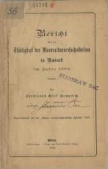 Bericht über die Thätigkeit der Moorculturversuchstation in Rudnik im Jahre 1894