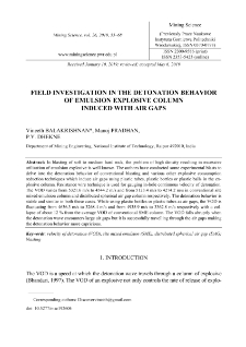 Field investigation in the detonation behavior of emulsion explosive column induced with air gaps