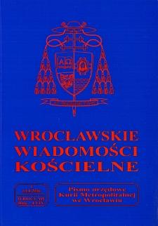 Wrocławskie Wiadomości Kościelne. R. 59 (2006), nr 1