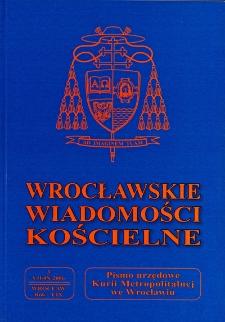 Wrocławskie Wiadomości Kościelne. R. 59 (2006), nr 3